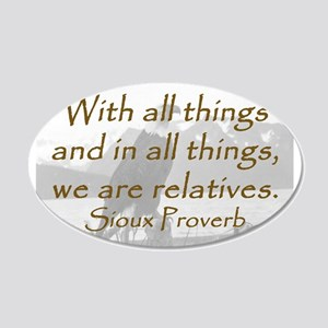 With All Things Wall Decal