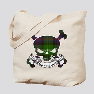 Sutherland Tartan Skull Tote Bag