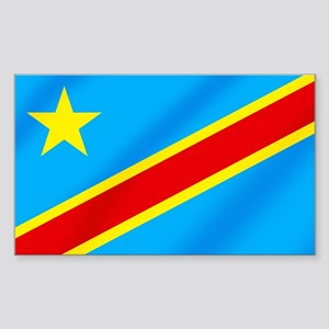 Congolese Flag Sticker (Rectangle)