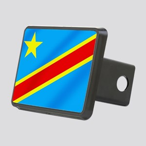 Congolese Flag Rectangular Hitch Cover