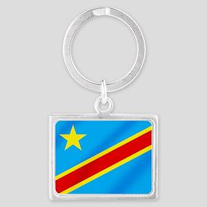 Congolese Flag Landscape Keychain
