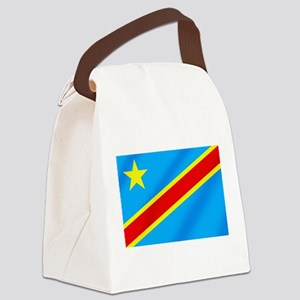Congolese Flag Canvas Lunch Bag