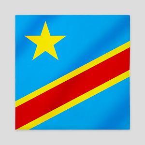Congolese Flag Queen Duvet