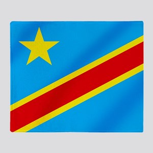 Congolese Flag Throw Blanket