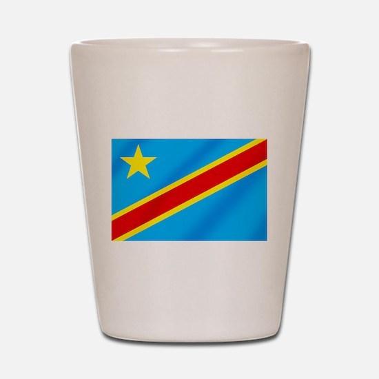 Congolese Flag Shot Glass
