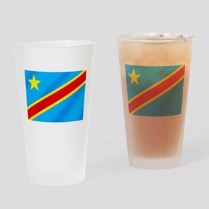 Congolese Flag Drinking Glass