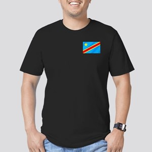 Congolese Flag Men's Fitted T-Shirt (dark)