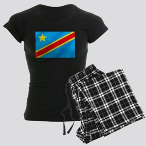 Congolese Flag Women's Dark Pajamas
