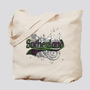 Sutherland Tartan Grunge Tote Bag