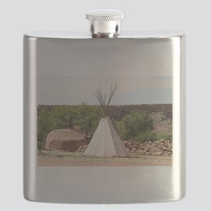 Indian teepee, pioneer village, Arizona Flask