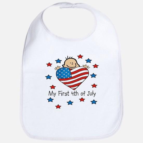 1st 4th of July Bib