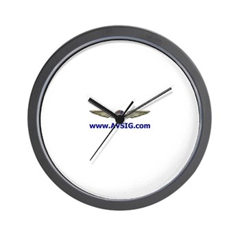 "AVSIG ""Is it 10:10 or 11:10?"" Wall Clock"