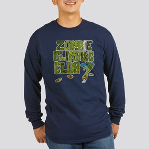 Zombie Climbing Club Long Sleeve Dark T-Shirt