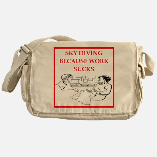 sky diving Messenger Bag