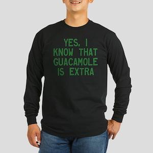 I Know Guacamole Is Extra Long Sleeve Dark T-Shirt