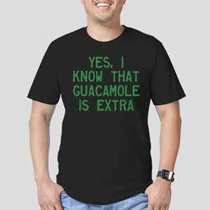 I Know Guacamole Is Ex Men's Fitted T-Shirt (dark)