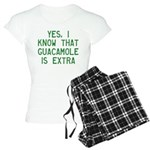 I Know Guacamole Is Extra Women's Light Pajamas