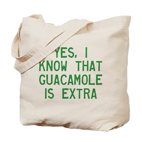 I Know Guacamole Is Extra Tote Bag