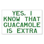 I Know Guacamole Is Extr Sticker (Rectangle 10 pk)