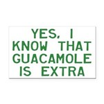 I Know Guacamole Is Extra Rectangle Car Magnet