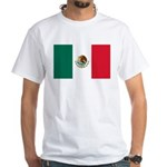 Mexico Flag White T-Shirt