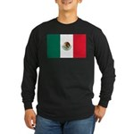 Mexico Flag Long Sleeve Dark T-Shirt