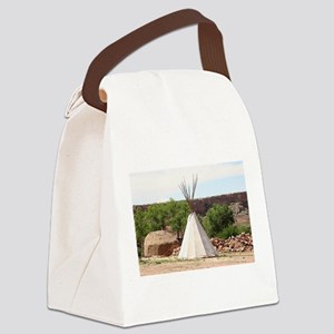 Indian teepee, pioneer village, A Canvas Lunch Bag
