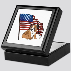 USA Bulldog Keepsake Box