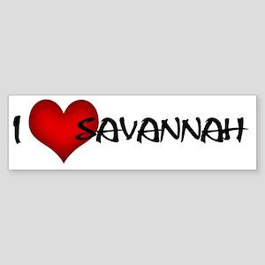 I LOVE SAVANNAH! Sticker (Bumper)