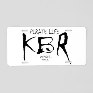KBR Member Logo Aluminum License Plate