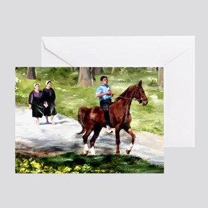 Amish Boy And Girls Greeting Cards