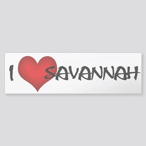 I Love Savannah! Bumper Sticker