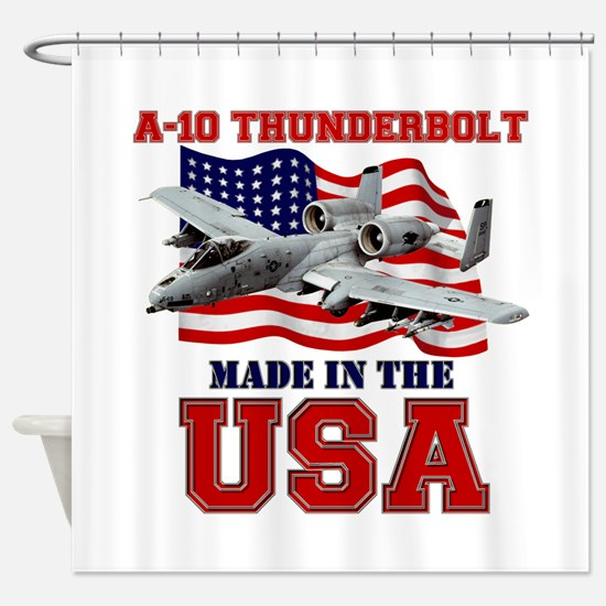 A-10 Thunderbolt Shower Curtain
