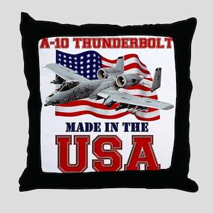 A-10 Thunderbolt Throw Pillow