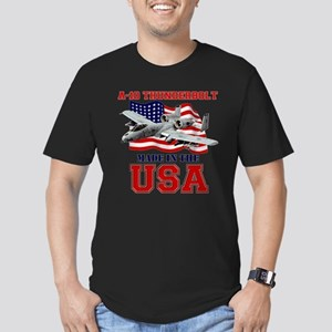 A-10 Thunderbolt Men's Fitted T-Shirt (dark)