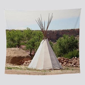 Indian teepee, pioneer village, Ariz Wall Tapestry