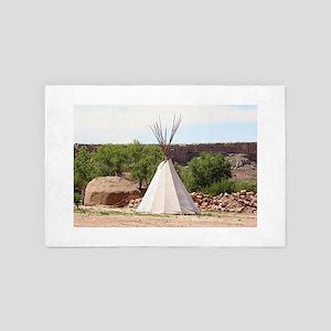 Indian teepee, pioneer village, Arizon 4' x 6' Rug