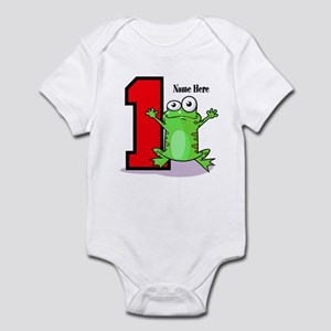 1st Birthday Froggy Infant Body Suit