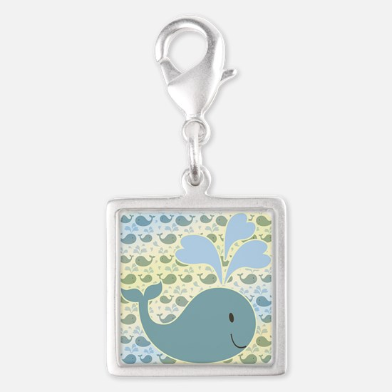 Cute Whale With Pattern Charms