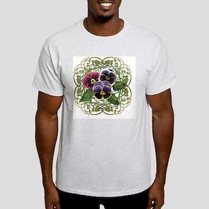 purple pansy bouquet Light T-Shirt