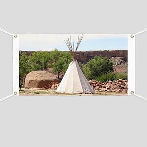 Indian teepee, pioneer village, Arizona Banner