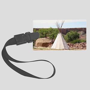 Indian teepee, pioneer village, Large Luggage Tag