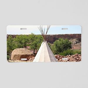 Indian teepee, pioneer vill Aluminum License Plate
