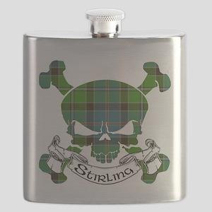 Stirling Tartan Skull Flask