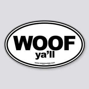 WOOF Yall Black Sticker