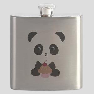 Panda Bear with Pink Cupcake Flask