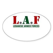 Lebanese Armed Forces Oval Sticker