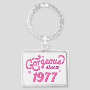 1977 Birth Year Gorgeous Landscape Keychain