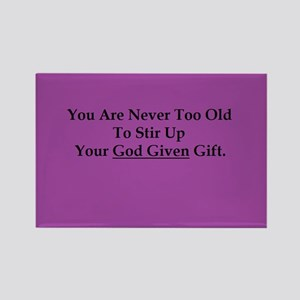 God Given Gift Purple Magnets