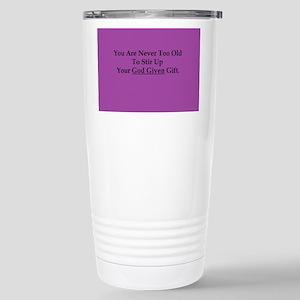 God Given Gift Purple Stainless Steel Travel Mug